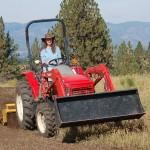 Liz on Tractor