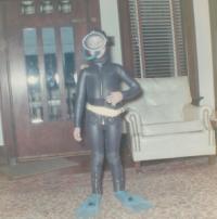 Liz in wetsuit