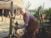Aama with radish, circa 1988