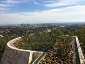 View of Los Angeles and gardens from The Getty Museum